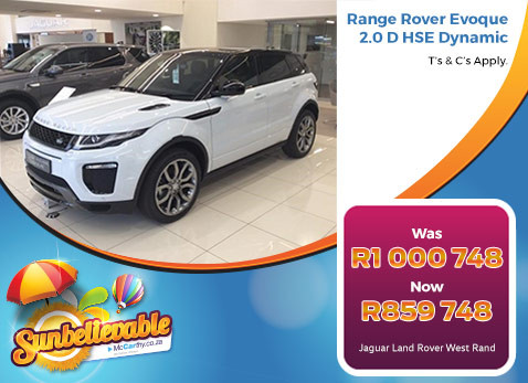 RANGER ROVER EVOQUE 2.0 HSE DYNAMIC - Save R141 000