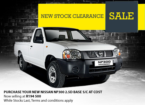 Buy a new Nissan NP300 2,5D @ R194 500 this Christmas