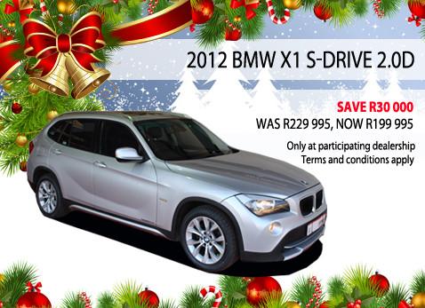 2012 BMW X1 S-DRIVE 2.0D - Save R30 000