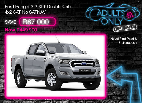 FORD RANGER 3.2 XLT DOUBLE CAB 4X2 6AT NO SATNAV Save R87 000