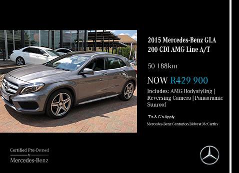 Used 2015 MERCEDES-BENZ GLA 200 CDI AMG LINE A/T