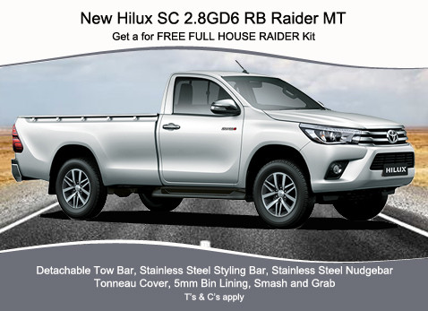NEW HILUX SC 2.8 GD6 RB RAIDER MT