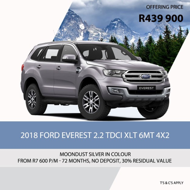 2018 Ford Everest Special