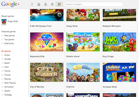 Google+ Games With New Features and 4 More New Games Released!