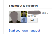 Hangout from Google+ Stream