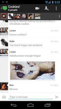 Hangout from Google+ Messenger