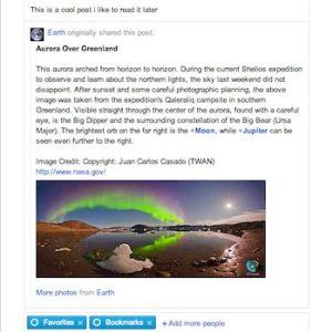 Bookmark or save Favorite posts in Google+
