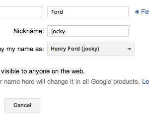 Adding nickname to your Google+ name / profile
