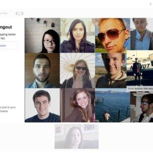 Google+ hangouts invite with online/offline status