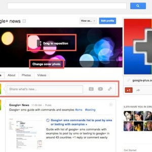 Share with your circles right from your g+ profile
