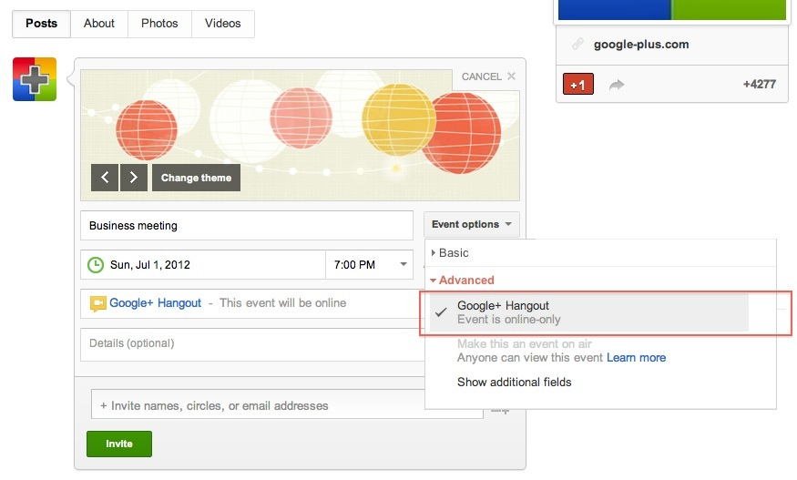 How to bookmark google+ hangout link url to use again and again?