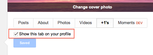 How to Hide +1 Tab on Your Google+ Profile?