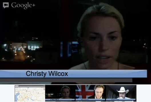 Journalist sharing Syria updates via Google+ hangout from border in Turkey
