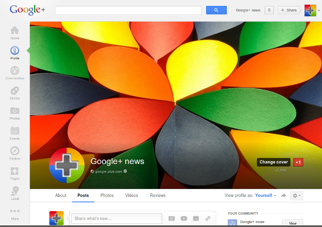 Google+ cover photos