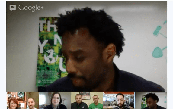 Starbucks Using Hangouts for Their Global Month of Service 2013 [Video]