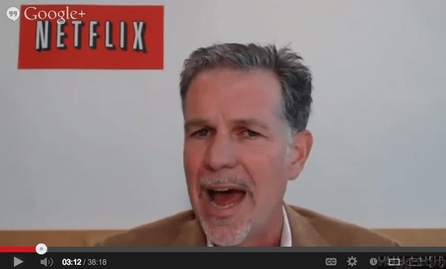 Netflix Uses Google+ Hangouts on Air for Q2 2013 Earnings Interview