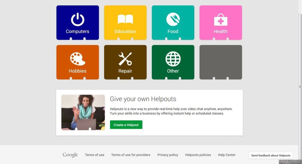 Google Helpouts - A secret project by google that turns hangouts into a skill trading marketplace