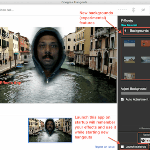 Hangout backgrounds in Google Effects App