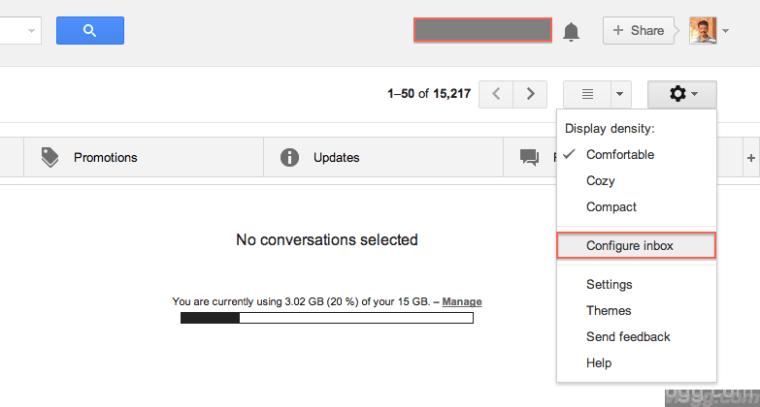 Click on Configure Inbox