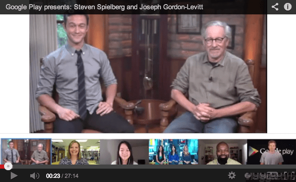 Steven Spielberg (Lincoln Movie) Hangout Video [Recorded]