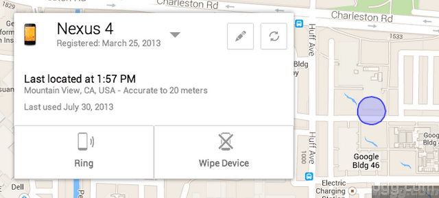 Locating a Android Device through Google Maps in ADM