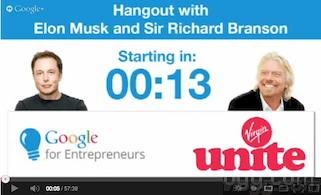 Elon Musk and Richard Branson Hangout Video