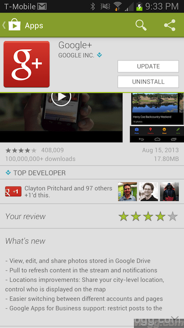 Google+ Android App version 4.1.0.50809204 released