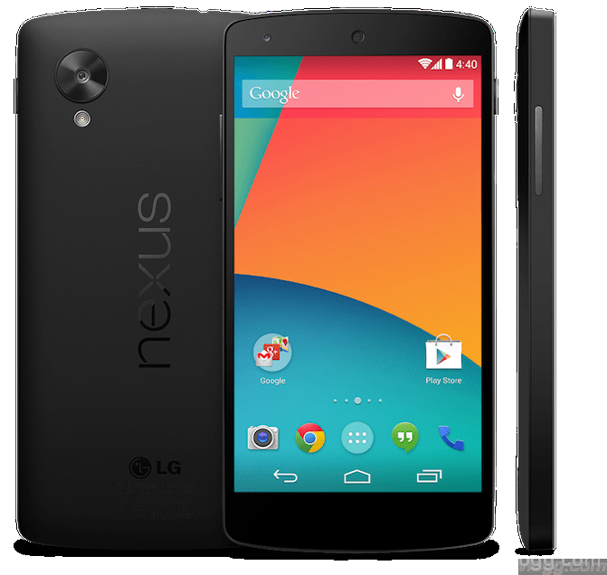 Google Nexus 5 Device Photo as appeared for a short whilte on Playstore