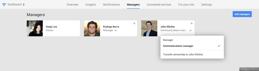 New Communication Manager role in Google Plus Pages [Images: Google+]