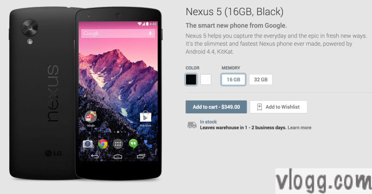 Google Nexus 5 Phone and Android Kit Kat 4.4 Released