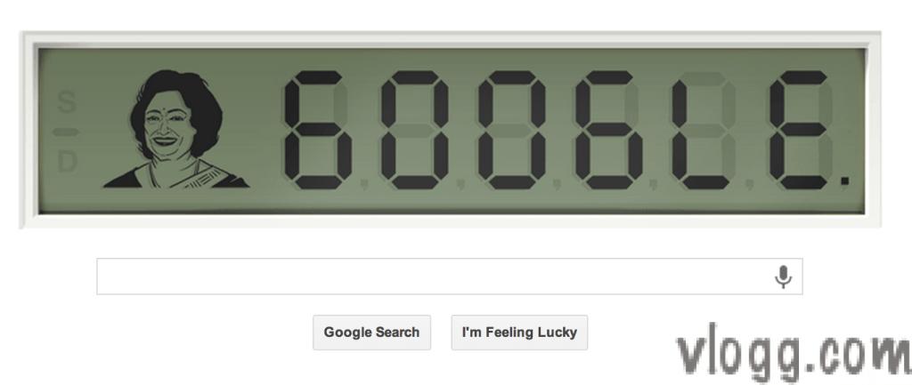 Digital Google Doodle Today Honoring 'Human Computer'