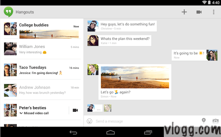 Hangouts Android App v2 0 with SMS MMS & Animated GIF's Released