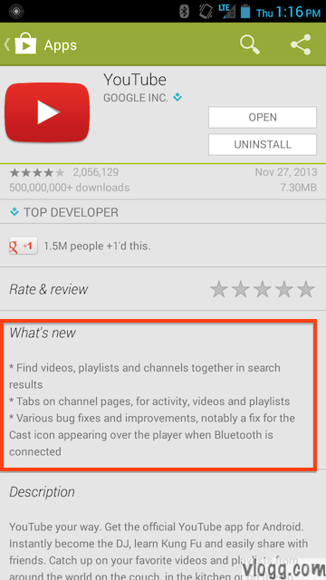 YouTube Android App Version 5.3.24 Released