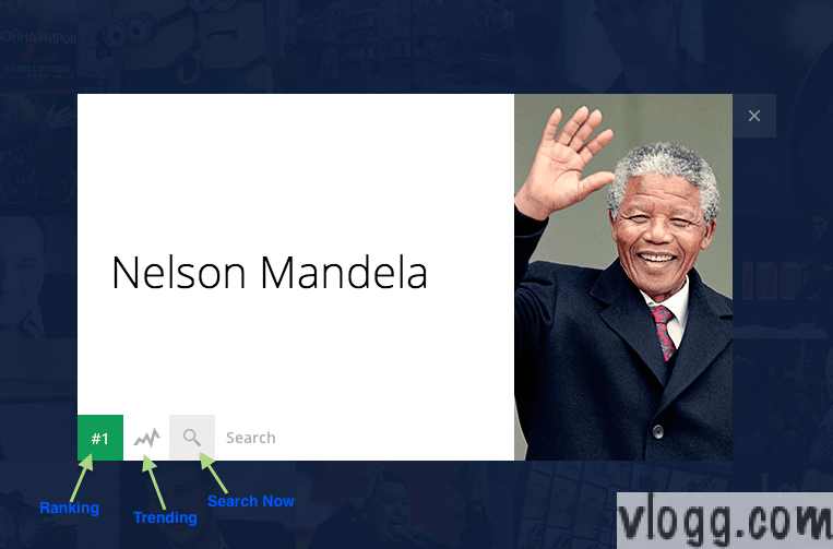 Nelson Mandela was #1 Most Searched Term in  2013 [Images: vlogg.com]