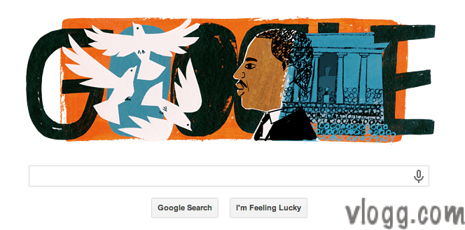 Google Doodle today honors Martin Luther King Jr. Day [images: vlogg.com]