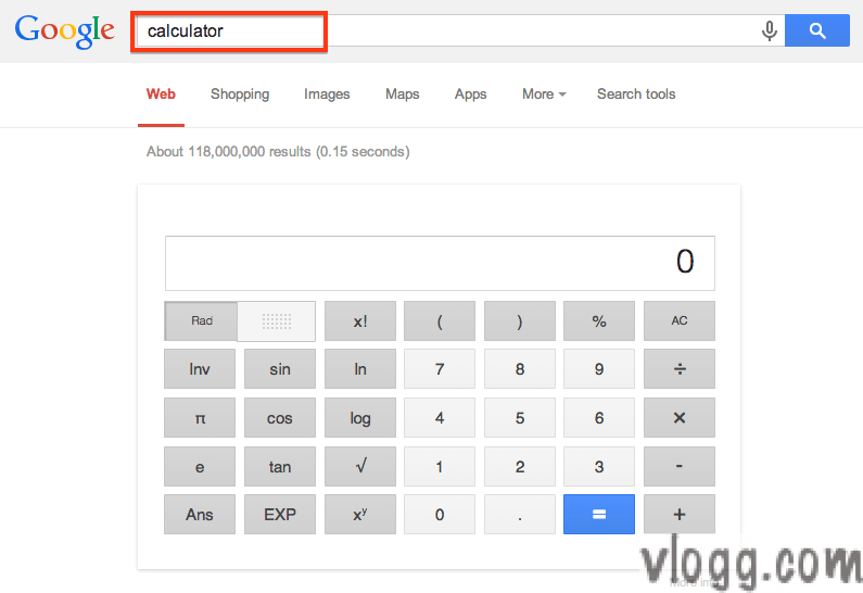 Google Calculator by typing command calculator in Google Search
