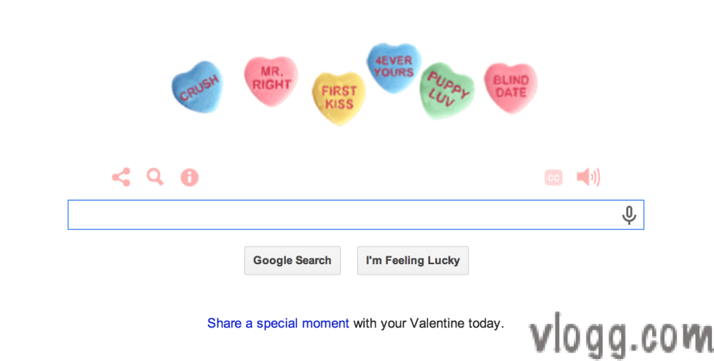 Google Doodle for Valentines Day 2014 [Video]