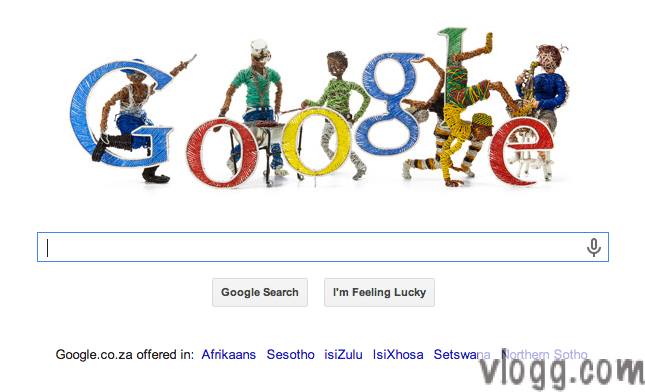 Google Doodle in South Africa honoring Freedom Day 27th April
