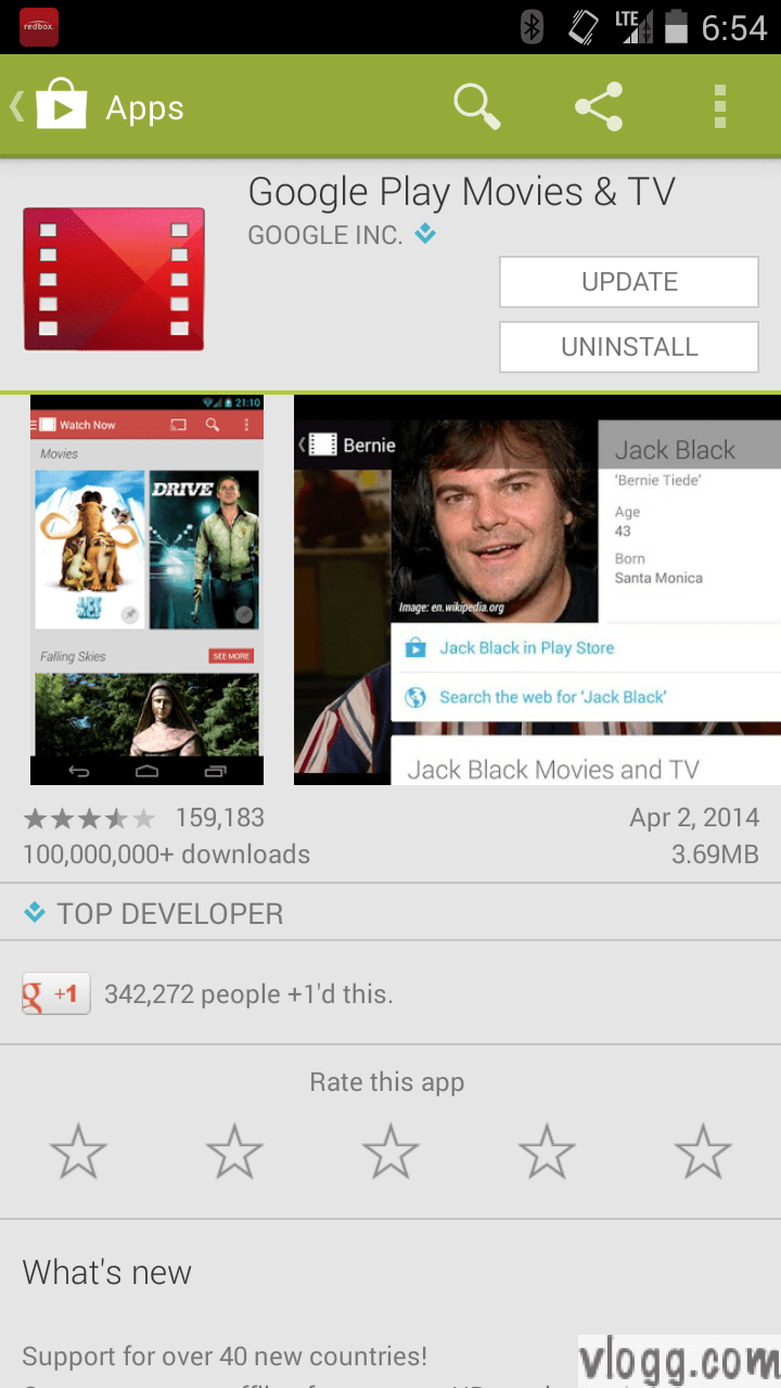 Google Play Movies & TV Android App 3.1.22 Released [images: vlogg.com]