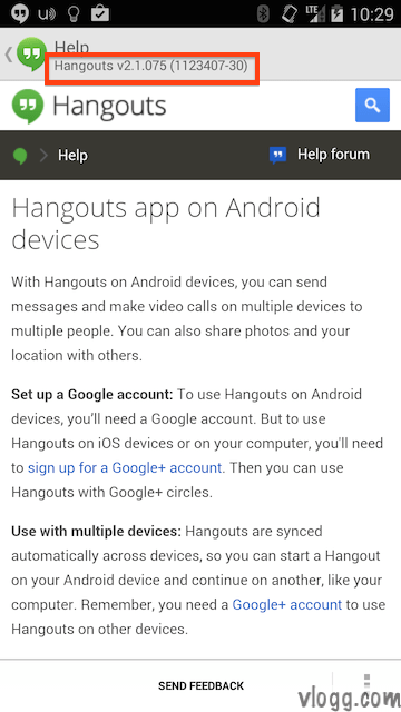 Hangouts Android App 2.1.075 Released
