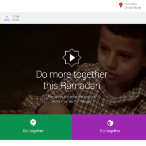 Google Ramadan Page 2014