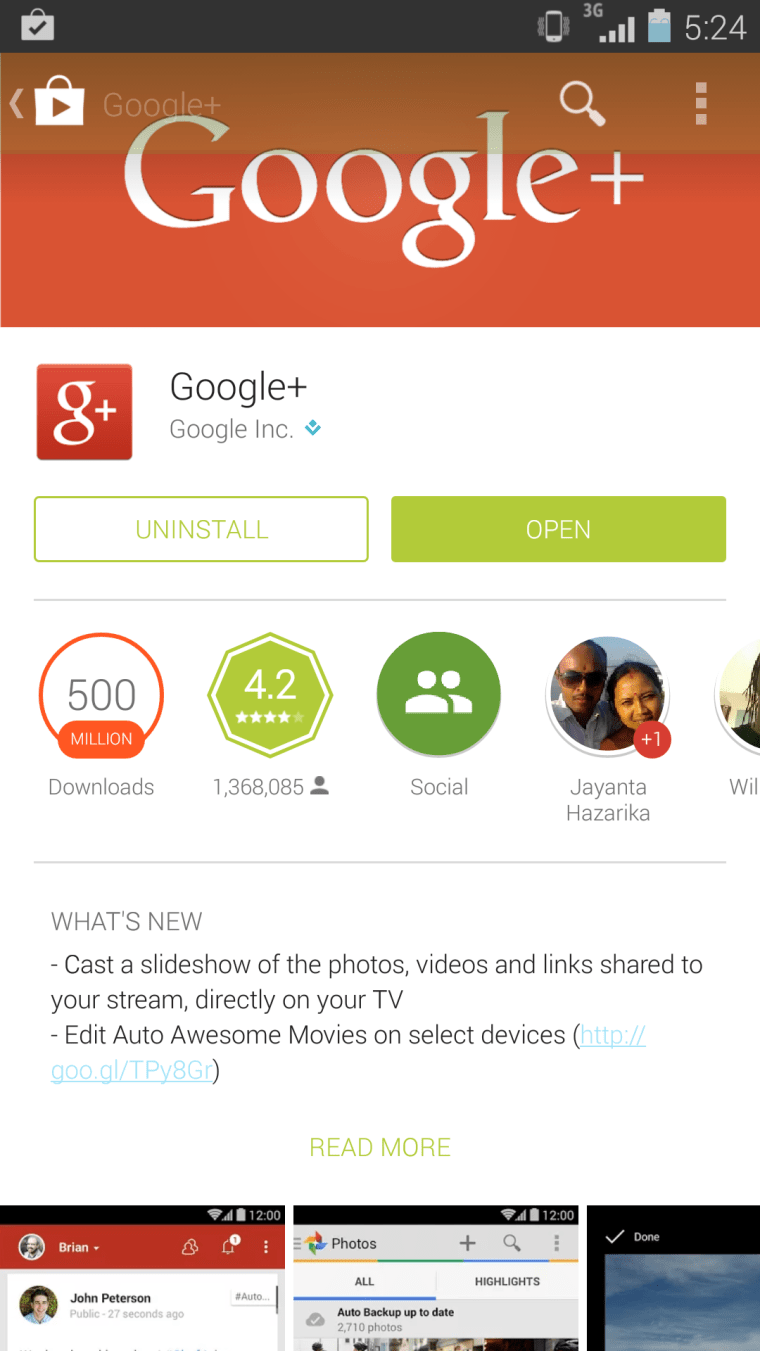 Google+ Android App Version 4.6.0.76970369 Released