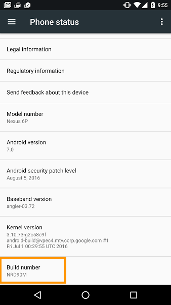 Android 7.0 N Nougat NRD90M