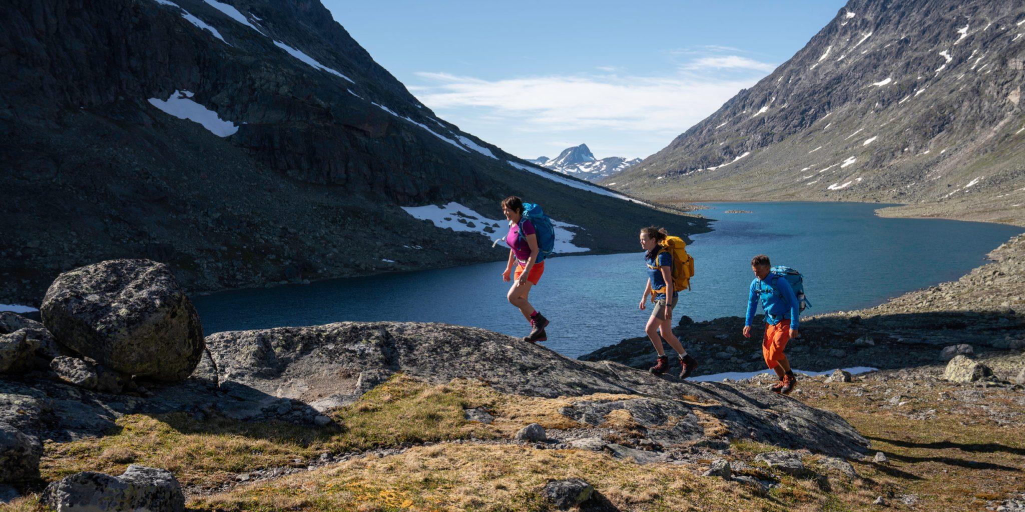 Hiking through the Svartdalen valley. Historical Route, Jotunheimen.