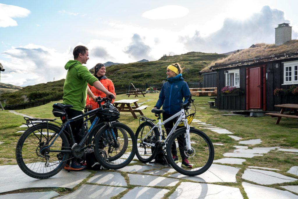 Cykelists at Grimsdalshytta