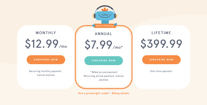 subscription cost headspace, headspace price, pricing headspace, best meditation app