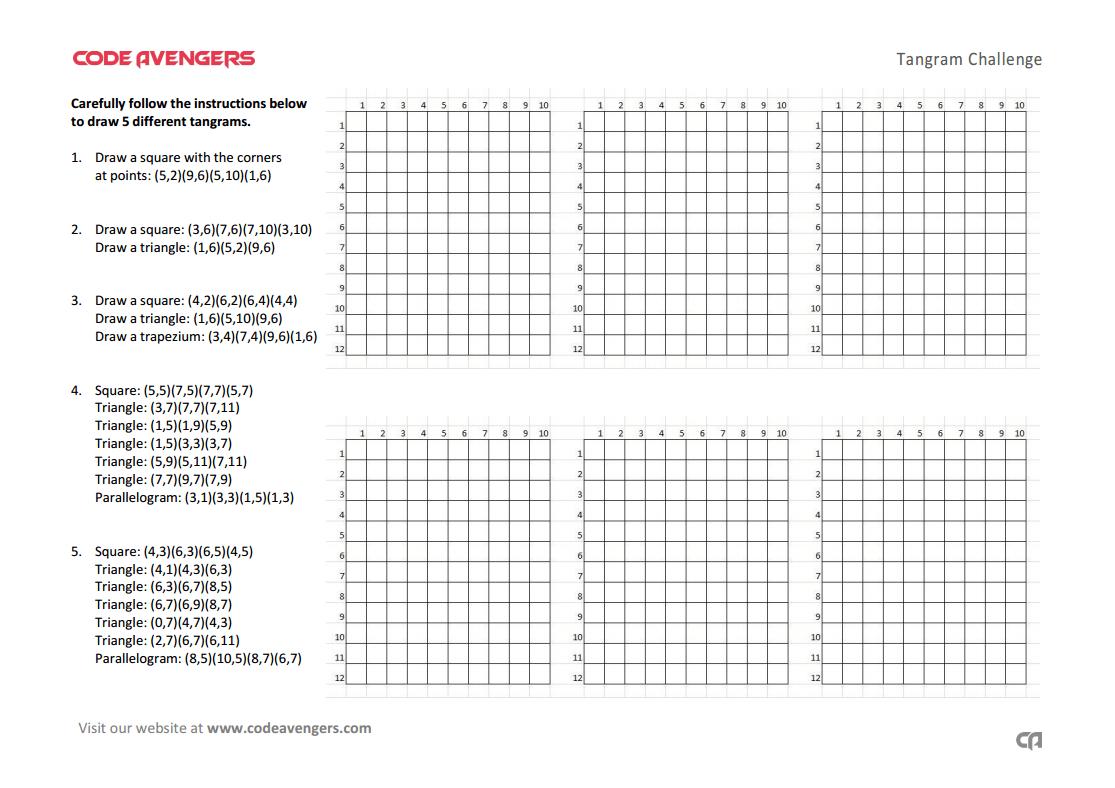 Tangrams Worksheet
