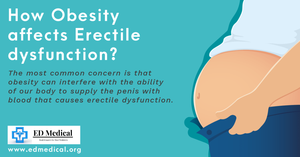 How obesity affects Erectile Dysfunction?