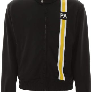 PALM ANGELS ZIP-UP SWEATSHIRT WITH INITIALS S Black