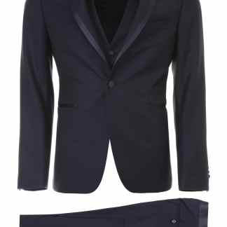 TAGLIATORE THREE-PIECE TUXEDO 46 Blue Wool